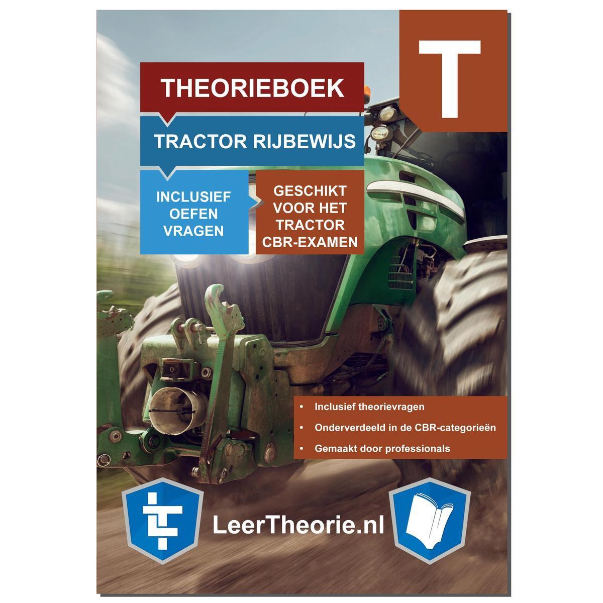 TractorTheorieboek Rijbewijs T 2021   Nederland    CBR Trekker Theorie Leren