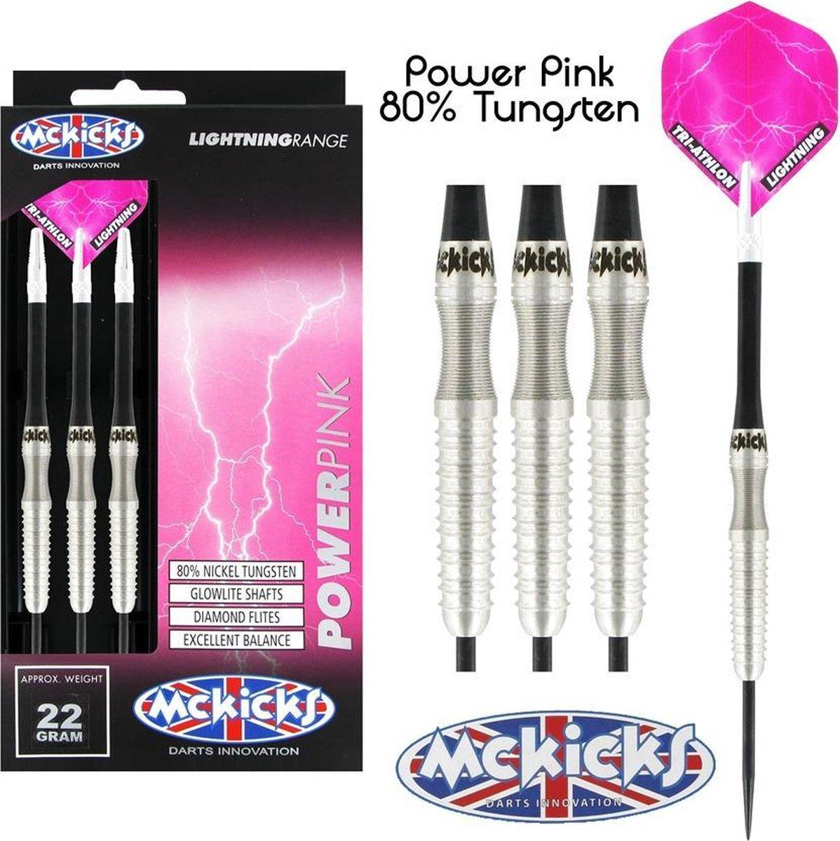 McKicks Power Pink 80% Dartpijlen 22 - 24 Gram - 24 gram