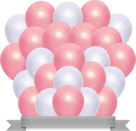 Ballonnen Set Metallic Baby Roze / Wit (20ST)