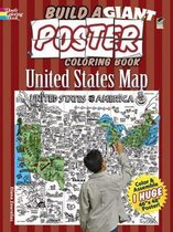 Build a Giant Poster Coloring Book--United States Map