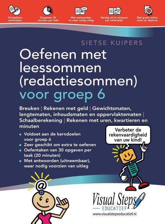 Boek cover Oefenen met leessommen (redactiesommen) voor groep 6 van Sietse Kuipers (Paperback)