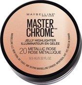 Maybelline Facestudio Chrome Jelly Highlighter - 20 Metallic Rose - 9,5 ml