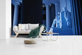 Blauw gekleurd Lincoln Memorial in Washington fotobehang vinyl 440x220 cm - Foto print op behang