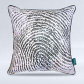 Intimo Fingerprint - Sierkussen - 45x45 - Zwart