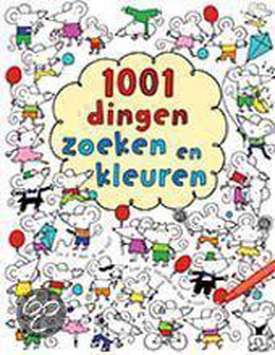 Cover van het boek '1001 Dingen zoeken en kleuren' van F. Watt