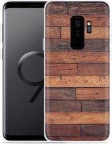 Galaxy S9+ Hoesje Houten planken