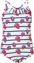 Snapper Rock UV werend Badpak Kinderen Strawberry - Blauw - Maat 86-92