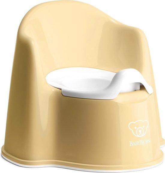 Product: BABYBJÖRN Plaspotje Zetel - Pastelgeel-Wit, van het merk BabyBjörn
