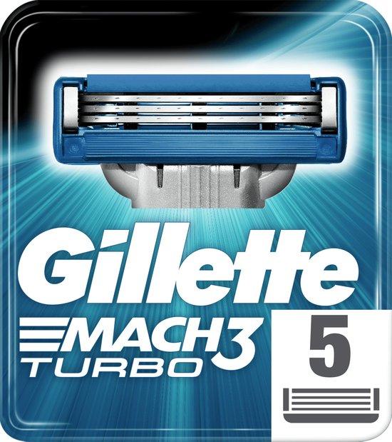 Gillette Mach 3 Turbo Scheermesjes 5 stuks