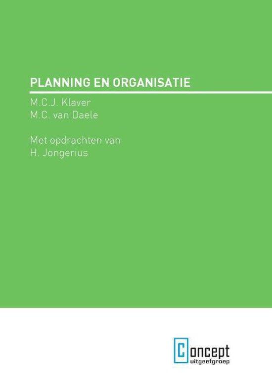 Planning en organisatie - M.C.J. Klaver | Fthsonline.com