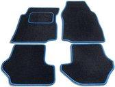 Bavepa Complete Premium Velours Automatten Zwart Met Lichtblauwe Rand Renault Twingo III 2014-