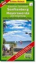 Radwander- und Wanderkarte Lausitzer Seenland, Senftenberg, Hoyerswerda und Umgebung 1 : 50 000
