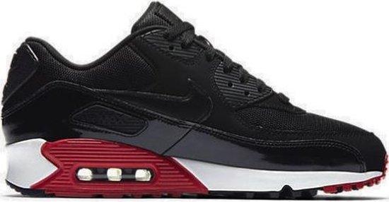 Nike Air Max 90 Essential - Heren Sneakers - Zwart / Rood - 537384-066 - Maat 40.5