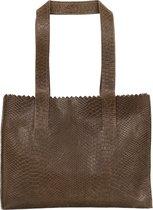 MYOMY My Paper Bag Dames Handtas - Anaconda Taupe