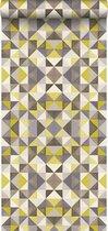 Origin behang kubisme okergeel - 346908 - 53 x 1005 cm