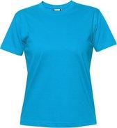 Clique Premium-T Ladies Turquoise maat M