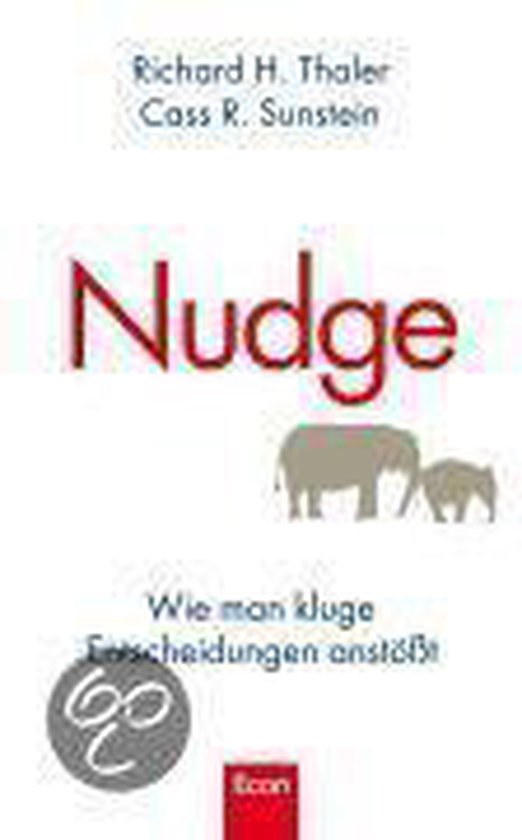 Boek cover Nudge van Richard H. Thaler (Hardcover)
