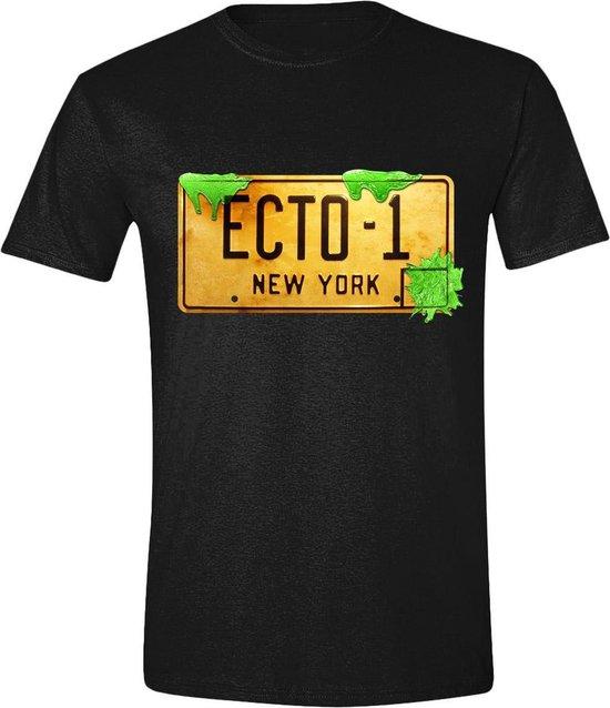 Ghostbusters - ECTO-1 Plate Mannen T-Shirt - Zwart - M