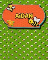 Handwriting Practice 120 Page Honey Bee Book Aidan