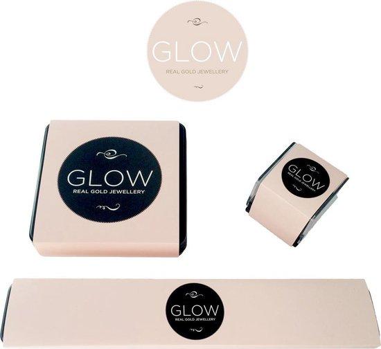 Glow hanger hart- geelgoud 14 kt - 7 x 6 mm