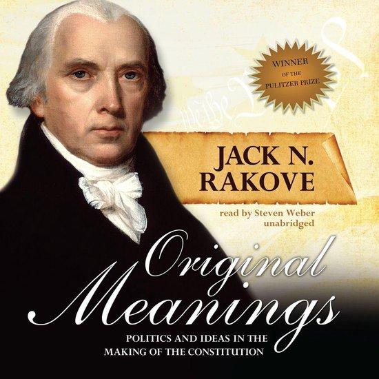 Boek cover Original Meanings van Jack N. Rakove (Onbekend)