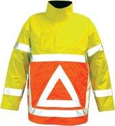M-Wear verkeersregelaarsparka 0925 fluo oranje/fluo geel maat XL