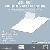Homéé® Splittopper Molton Hoeslaken Flanel Stretch (tot 12 cm) 180x200/220cm - 210g. p/m²