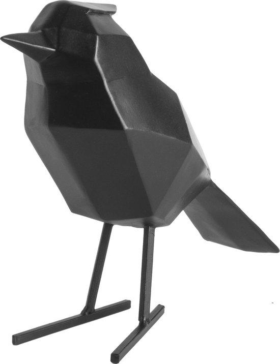 Present Time Decoratief Beeld Origami Vogel large - zwart
