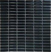 Mozaiek tegel 30x30 zwart glas