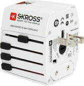Skross Reisstekker  World Travel Adapter MUV USB