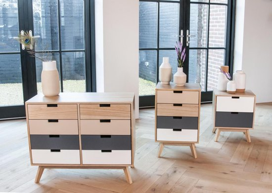Cabinet Snap wood w. 4 drawers