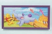 Disney Schilderij Winnie de Poeh aan het vliegeren 52 CM X 26 CM