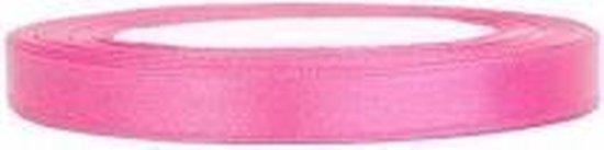 Satijn Lint, Roze 6 mm Breed, 100 Meter Totaal, 4 Rollen Van 25 Meter