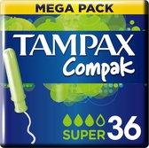Tampax Compak Super Tampons - 36 Stuks - Met Inbrenghuls