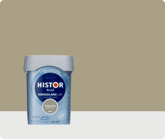 Histor Perfect Finish Lak Acryl Hoogglans 0,75 liter - Toepassing