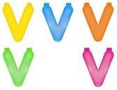 Opblaas letter V  Blauw