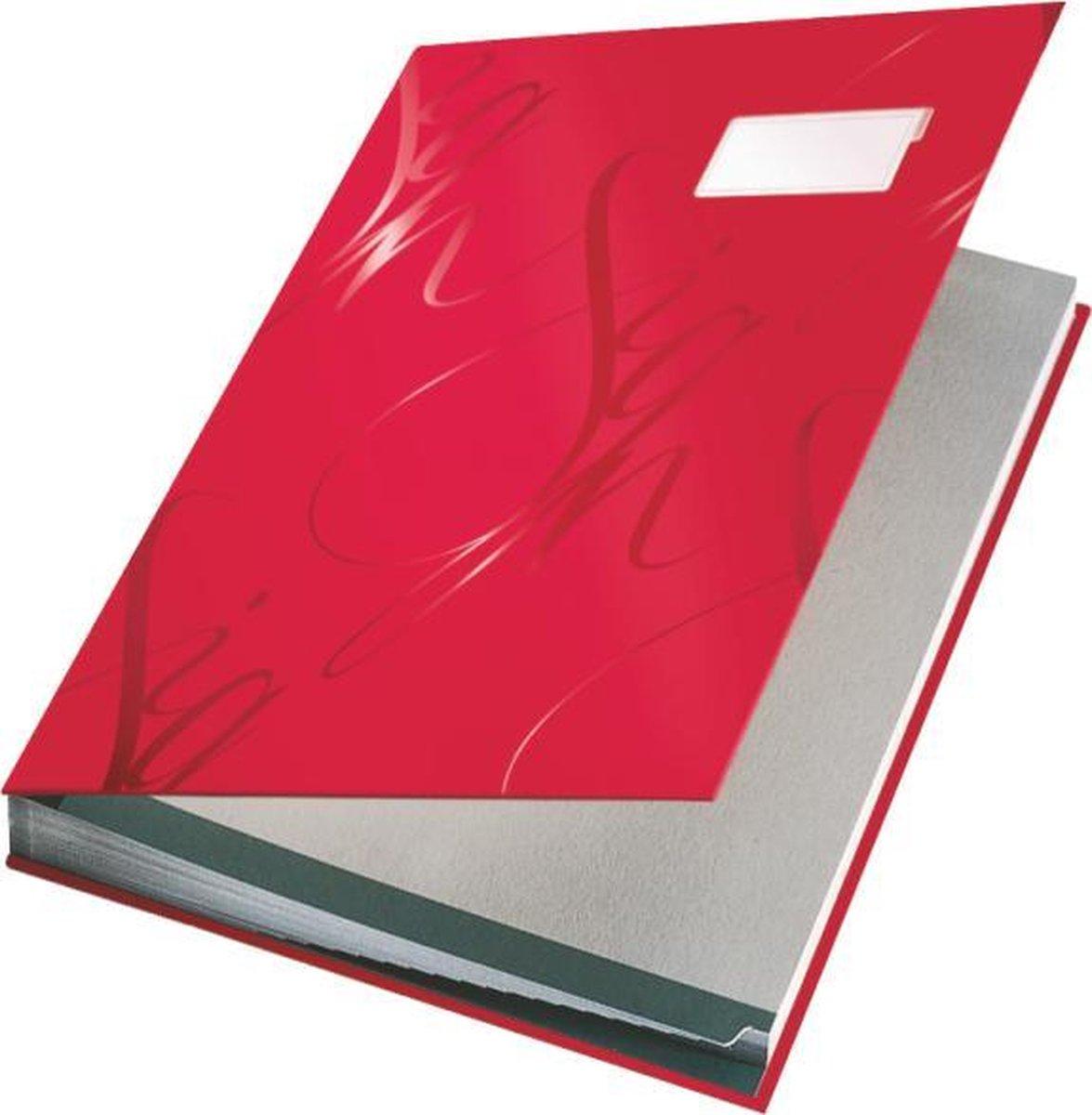 Leitz - Design Vloeiboek - Karton - 18 scheidingsbladen - Rood