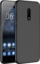 Nokia 8 Zwart TPU siliconen case telefoonhoesje