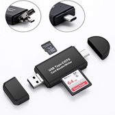 3-in-1 Card Reader Type C , USB SDHC Micro SD Card Reader iOS, Windows MacOS en Android Samsung