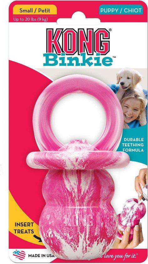 Kong Puppy Binkie S Groen - Kauwspeelgoed - 19 cm x 10 cm x 6.35 cm - Groen/Wit