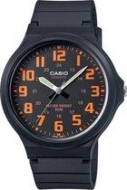 CASIO - MW-240-4BVEF - Casio Collection - horloge - Mannen - Zwart - Kunststof Ø 42 mm