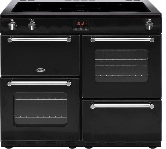 Belling Kensington 100Ei Range cooker Zone van inductiekookplaat A Zwart