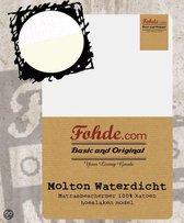 Fohde Molton - Katoen - Waterdicht - 90 x 200 cm - Wit