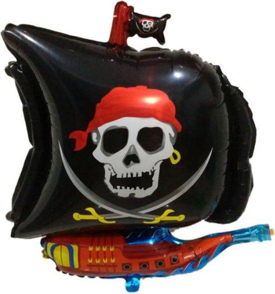 Folieballon Piraten boot zwart 45x65 cm