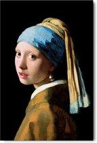 Johannes Vermeer - Meisje met de parel  - Schilderij 60 x 90 cm