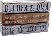 """Houten Decoratie Spreukbord """"opa en oma""""  Woondecoratie Cadeau Verjaardag"""