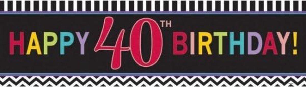 Nieuw bol.com | Banner 40 jaar 165 cm - verjaardag / jubileum versiering AA-82
