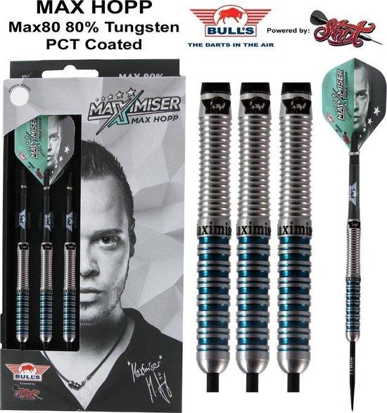 Bull's Max Hopp 80% Max80 24 gram Steeltip Dartpijlen