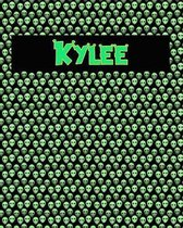 120 Page Handwriting Practice Book with Green Alien Cover Kylee