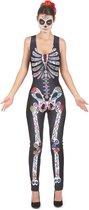 LUCIDA - Dia de los Muertos skelet pak voor vrouwen - M/L - Volwassenen kostuums